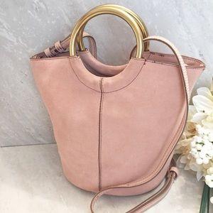 J. Crew Bracelet Bucket Bag Italian Leather Blush